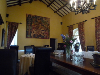 Dining room in the original hall