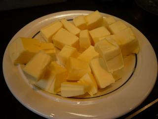 Add soften, cubed butter