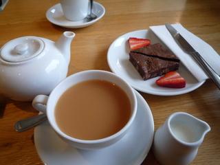 Tea, coffee & brownie tasting