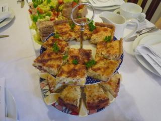 Top:  Leek Flan  Bottom:  Smoked fish rice cake