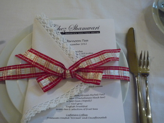 Xmas Afternoon Tea place setting