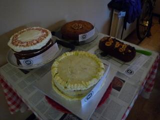 The gluten free cakes