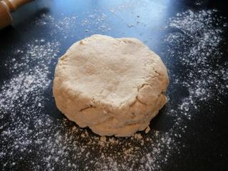 Turn dough onto lightly floured surface