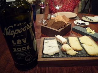 Our cheeseboard selections with some Port