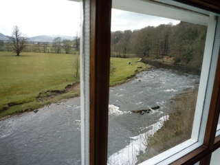 The River Hodder from the dining room