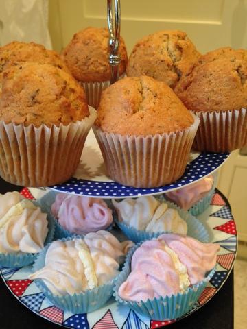 Caraway seed cake & meringues