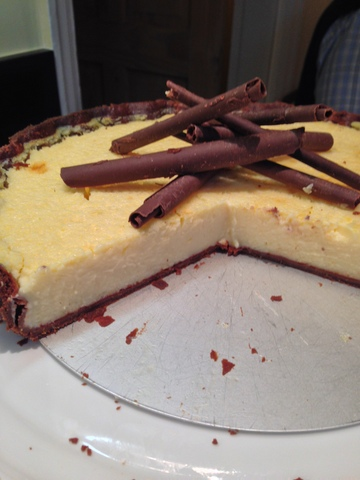 Chocolate crusted lemon tart
