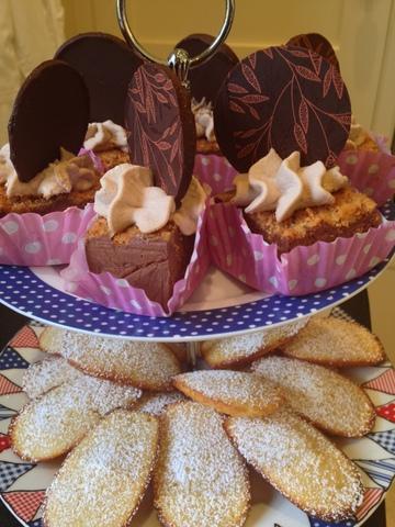 Truffle torte & Madeleines