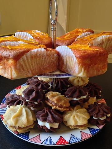 Orange & almond loaves / Chocolate & vanilla Viennese whirls