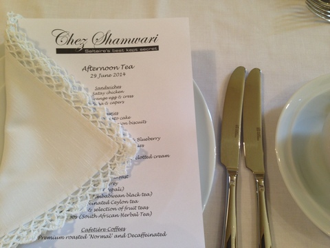 Menu & place setting