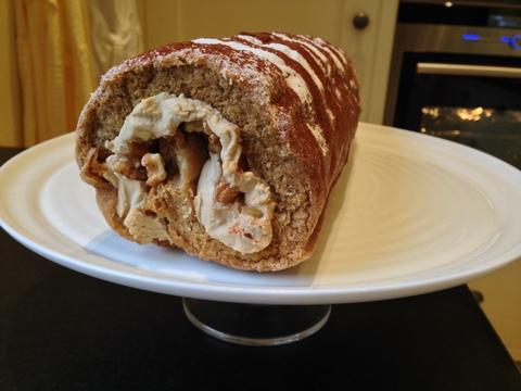 Coffee & Walnut Swiss Roll