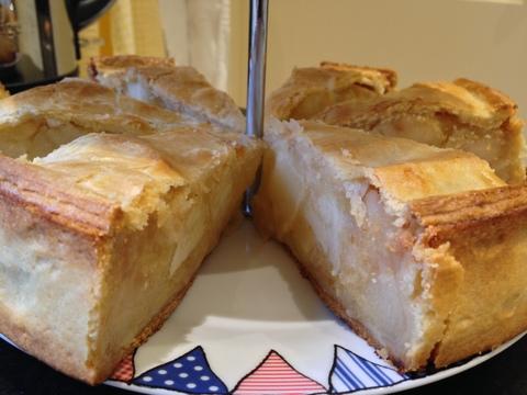 Bramley & Russett Apple pie