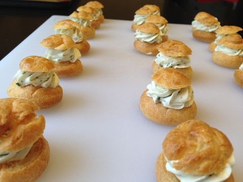 Savoury Chox with herb cream cheese filling