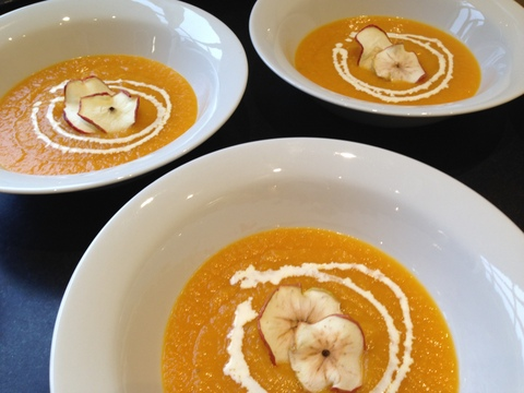 Butternut & apple soup