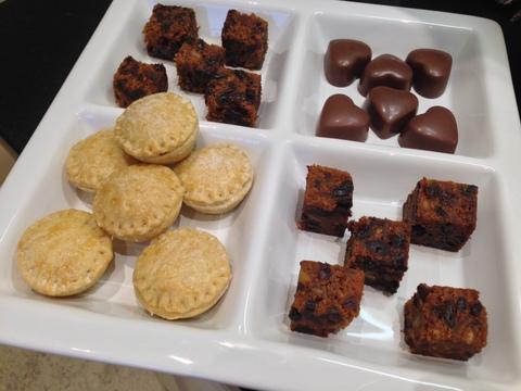 Petit fours:  xmas cake / mince pies / rum truffles