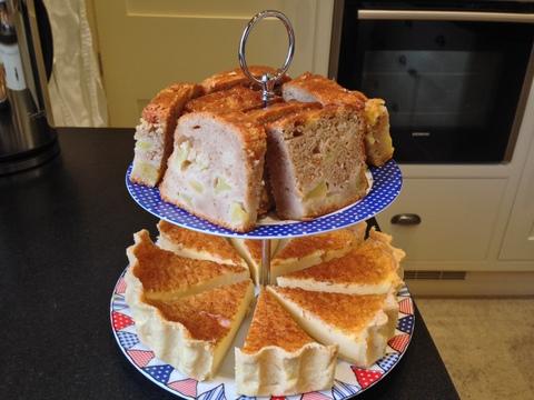 Honey glazed Dorset Apple Cake / Custard Tart