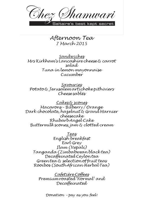 20150307 Afternoon tea