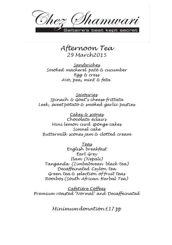 20150329 Afternoon tea