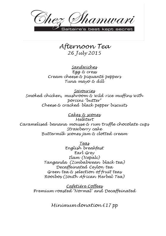 20150726 Afternoon tea