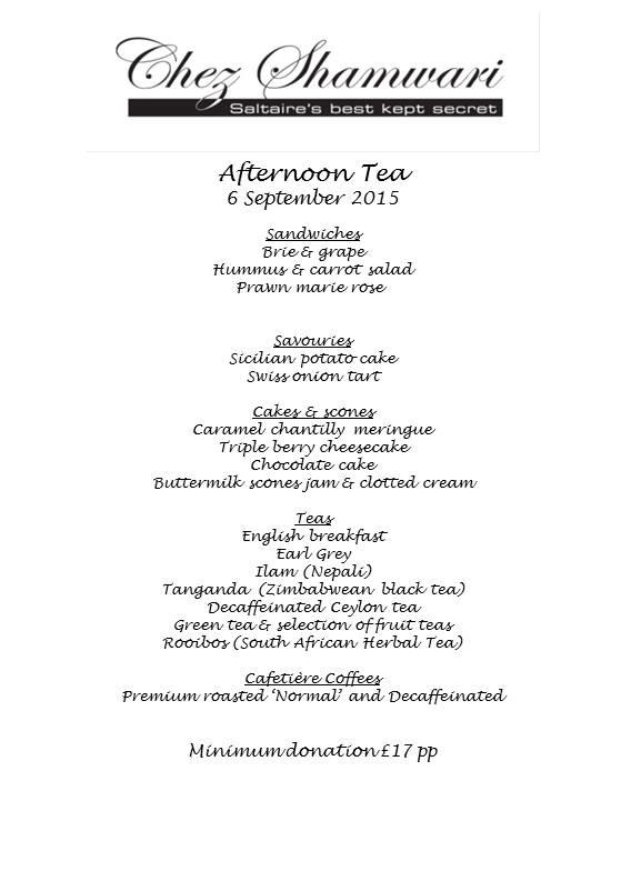 20150906 Afternoon tea