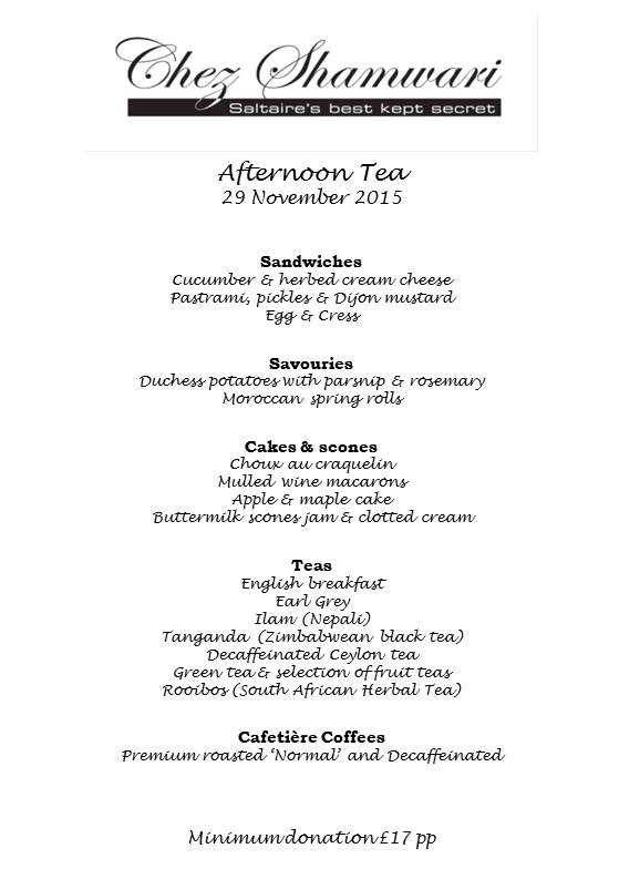20151129 Afternoon tea