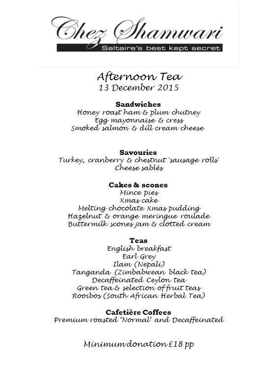 20151213 Afternoon tea