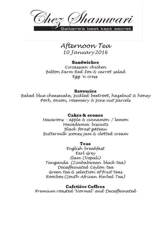 20160110 Afternoon Tea